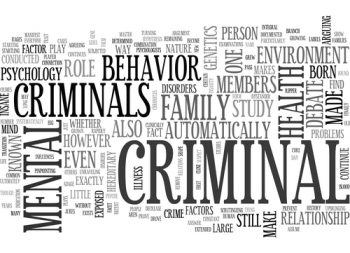 Criminal Psychology Word Cloud